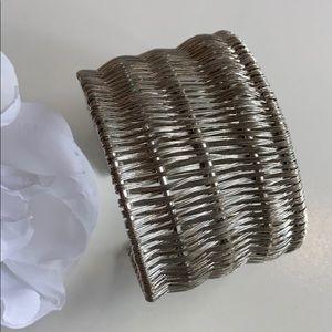 Chunky Woven Cuff Bracelet